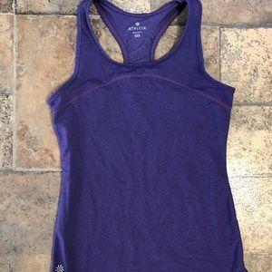 Athleta basic racer back tank purple xxs